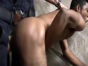 Cop gay bulge large Suspect on the Run  Gets Deep Dick Conviction