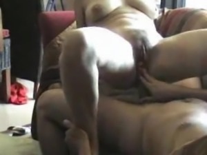 my wife milks me with her saggy tits