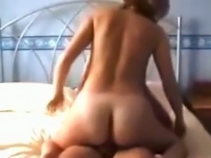 My horny wife with great ass rides my hard dick in cowgirl style