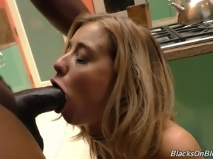 Haley Reed bends over for a black hunk's huge cock