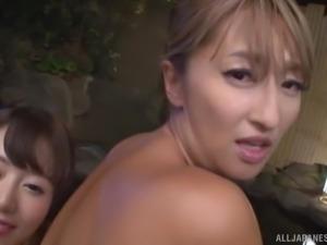 Horny Japanese women are interesred in a fellow's boner