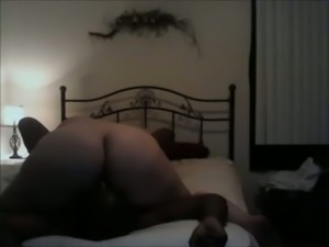 Extremely big bottomed pale nympho was fucked by black buddy