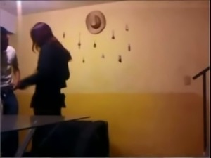 Cheating brunette wifey got caught fucking with her lover in the motel