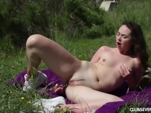 Moray Moore with fine ass masturbating lovely outdoor