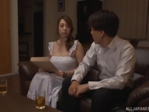 Kazama Yumi is a horny MILF who loves various sexual games