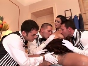 Giulia Grandi gets more than she bargained for from these very attentive...