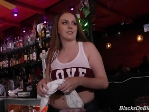 Plump Jenna Marie fucked hard by black handsome fellows
