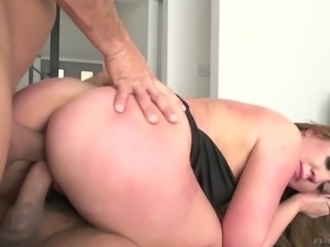 Maddy O'Reilly's butt is fine to the max and this lovely chick loves DP