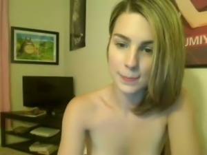 I demonstrate my sexy body and stuff my slit with a dildo
