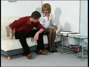 Mature stockings british amateur