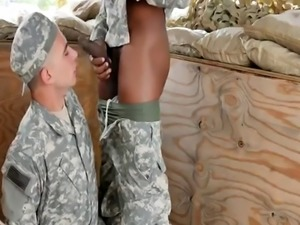 Military men get spank gay first time hot horny troops!