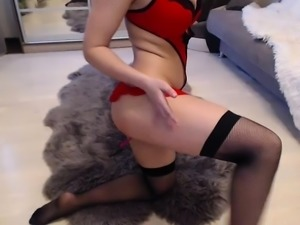 Classy blonde amateur babe nailed in sexy lingerie