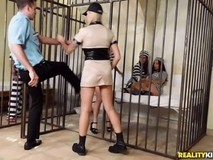Dominica Phoenix joins her cellmates for a hot orgy session
