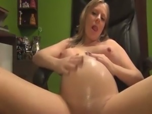 Pregnant big breasted all nude webcam slut plays with her boobies