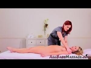 Lesbian masseuse fingered