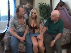 Marvelous and playful blondie flashes her perfect breasts and gets on her knees