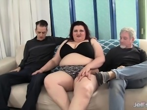 Big boobed plumper gets her pussy and asshole filled with