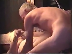 Chubby amateur old housewife was fucked by my friend in mish pose