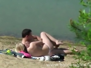 Amateur Couple Fucking by the Lake