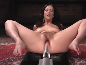Her legs are open and her pussy is spread wide. This beautiful woman doesn't...