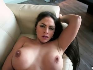 Marta giving dick titjob then smashed hardcore doggystyle