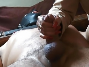 Bound and milked with long red nails