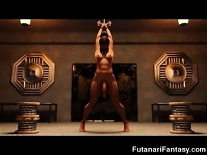 Big Dick 3D Futanari Lesbian Fantasy!