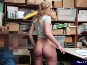 Thief Daisy Stone nailed and facialized by pervy LP officer