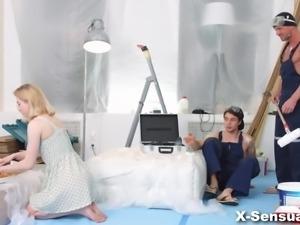 X-Sensual - Via Lasciva - DP helps teeny get over her ex