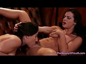Young sappho babes pussylicking and fingering