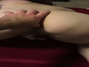 Big pussy lips are flashed in a self taped masturbation video of friend's wife