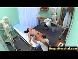 Euro nurse enjoys oral action with a doctor