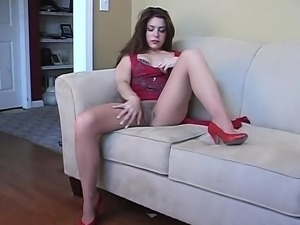 Voluptuous Donna Ambrose nylon masturbation