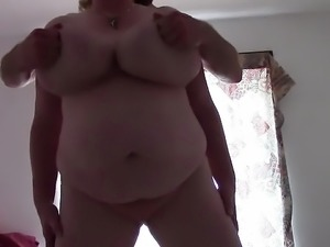English Granny and her enormous saggy tits