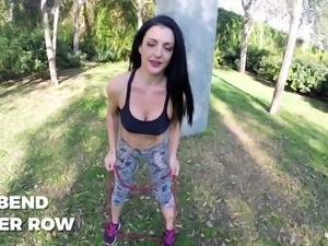 Horny chick Carla Pons definitely wants to build a bigger butt