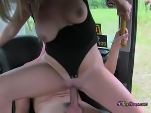Hot Cab Driver Summer Rose Gets Humped And Creamed