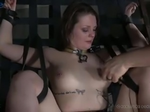 Kinky bondage and lewd humiliation with a submissive nympho Nora Riley