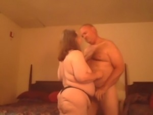 Chubby housewife with dark hair loves to be fucked doggy style