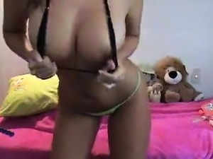 Webcam girl with her dildo