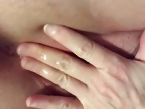 Creampie play and squirt