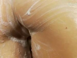 russian ginger girl roberta berti showers her shapely body