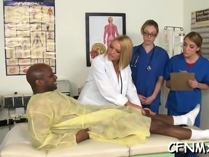 Amazingly cfnm act with sexy wench sucking and riding