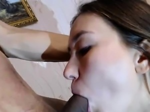 Awesome Teen Blowjob And Cumshot In Mouth
