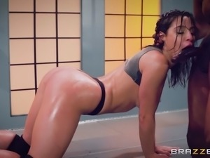 abella danger serves the bbc with her experienced mouth