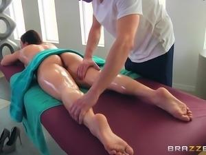 Lea Lexis is a gorgeous MILF seduced by a masseur for a shag