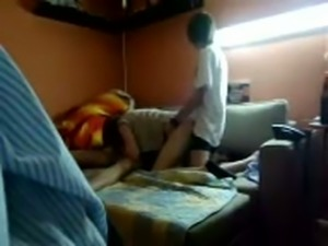Skinny teen dude fucks my mature pussy in a doggy position
