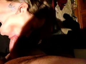 Brunette Gives Sexy Pov Blowjob On The Couch