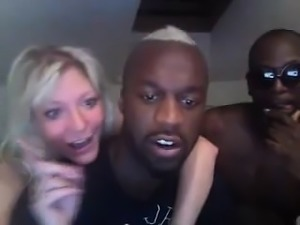 Blonde with big boobs has wild interracial fuck