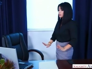 Sexy South Korean beauty Rina Ellis gets fucked by her colleague