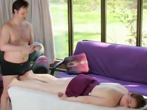 Sheila Faye seduced by a guy for a sensual shagging experience